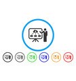 health care system report rounded icon vector image