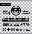 logistics export icon set vector image