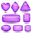Set of opaque glass shapes vector image