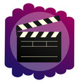 the clapperboard bright icon a sign of vector image