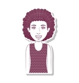 silhouette teenager with curly hair vector image