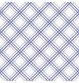 geometric plaid diagonal line blue and white vector image