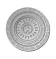 Mayan Sun stone symbol vector image