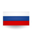 Russian Flag vector image