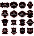 Black Fridays Labels vector image