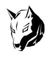 dog head symbol vector image