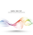 Abstract wave background rainbow waved vector image