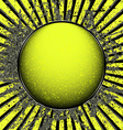 Acid yellow ball vector image