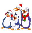 Caroling penguins vector image