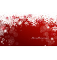 christmas background with white and red vector image