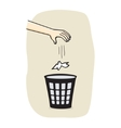 Hands with garbage vector image