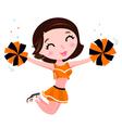 Happy cheerleader vector image
