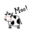 isolated cow vector image
