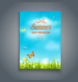 nature summer template vector image