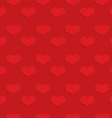 Red hearts on checkered background vector image