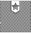 silhouette pattern with grille texture vector image