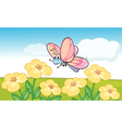 A smiling butterfly vector image vector image