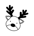 cute reindeer character icon vector image