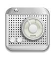 Radio app icon vector image vector image