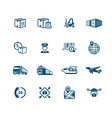 logistics icons - micro series vector image