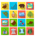 wild animal deer horns and other canada elements vector image