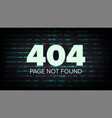 404 error page not found computer web vector image