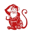 Red monkeyChinese zodiac sign with Flowers vector image
