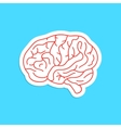 red outline brain icon sticker vector image
