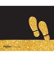 Creative footprint Art vector image