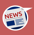 Web icon for news vector image