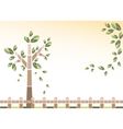 background of tree and leaves vector image