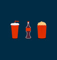 cinema time set vector image