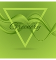 Color of the year 2017 Greenery wavy background vector image