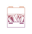 drawer with elegant suits icon vector image
