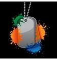 Painball army tags vector image