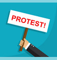 protest and disagreement of an employee vector image