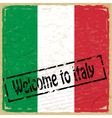 Vintage background with flag of Italy vector image