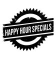 Happy hour specials stamp vector image
