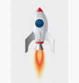 space rocket icon vector image vector image
