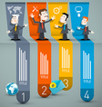 Infographics with Businessmen and Paper Layout vector image vector image