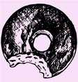 chocolate donut vector image
