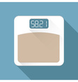 digital body weighing scale with edible digital vector image