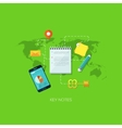Flat concept for key notes vector image
