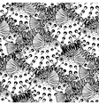 Graphic puffer fish pattern vector image