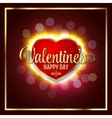 Great heart with sign Valentines happy day vector image