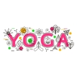 Yoga Banner template for yoga studio yoga website vector image