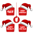 Rectangle Christmas New Year Sale Tag with Cap vector image vector image