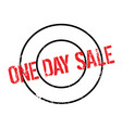 one day sale rubber stamp vector image vector image