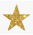 gold glitter star golden sparcle amber vector image