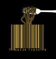 fork spaghetti barcode design idea concept vector image